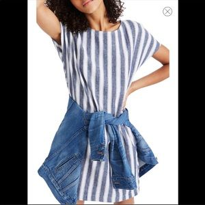 Madewell Striped Button Play Dress